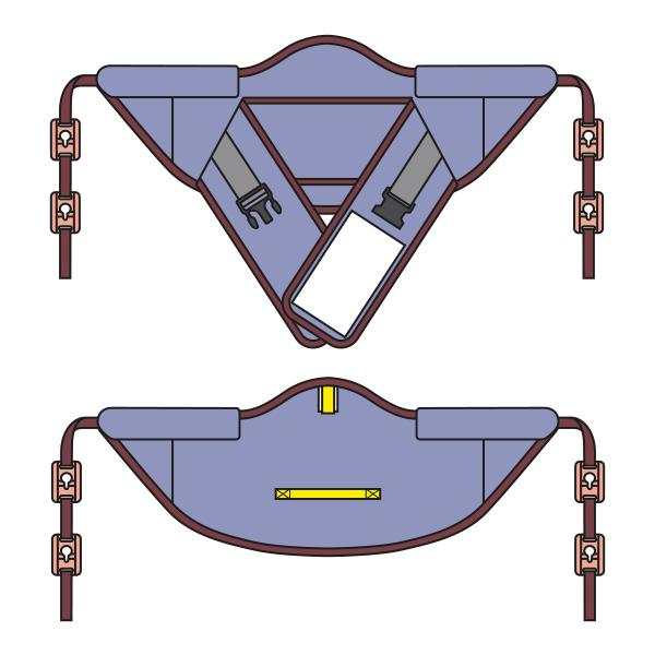 Schnittmuster für Gurt für Aufstehhilfe mit Clipaufhängung