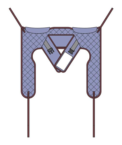 Schnittmuster für Toilettentragetuch High Easy