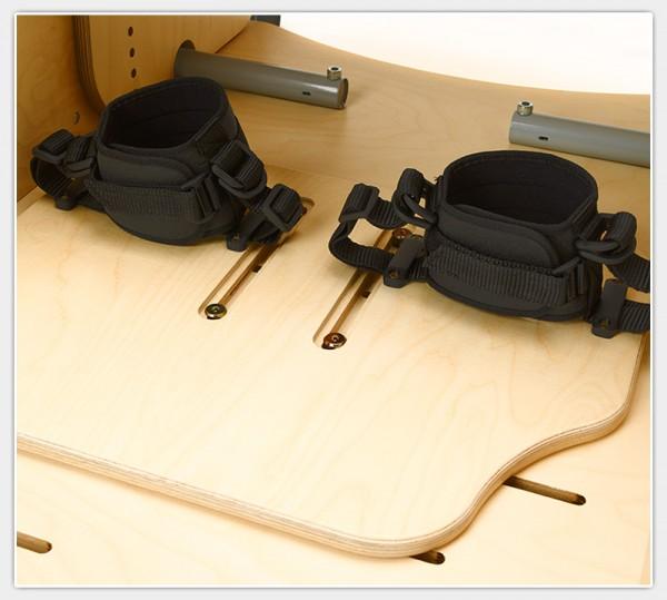 Holzplatte zur Verstellung der Fußfesselsicherung für Therapiesitz Hardrock