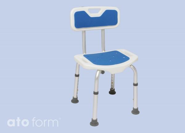 Blue seat Duschhocker verstellbar mit Rückenlehne