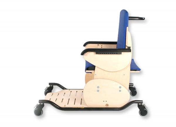 Fahrbares Untergestell mit Schiebegriff für Therapiestuhl Hardrock