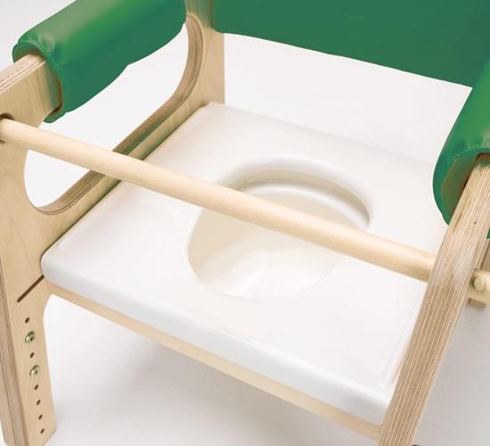 Abnehmbarer Haltebügel bzw. Handlauf für Combi Toilettenstuhl