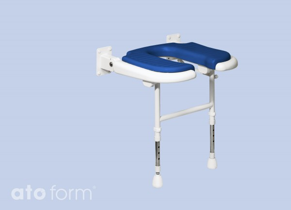 Duschklappsitz 4000, Standard mit Ausschnitt für die Intimpflege