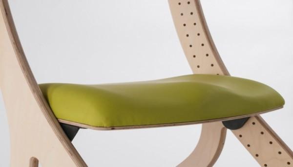 Konturierte gepolsterte Sitzplatte für Zoomi