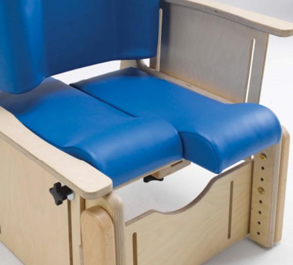 Frei justierbarer geteilter Sitz für Therapiestuhl Brookfield