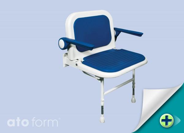 Duschklappsitz 4000, extra breit, mit Arm- und Rückenlehne